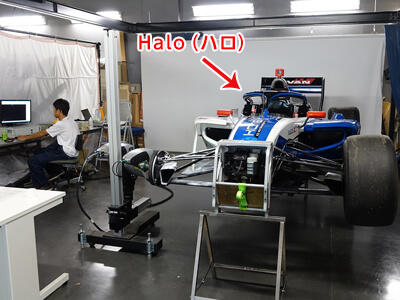 写真4.3D計測中の様子(1F 映像実験室)